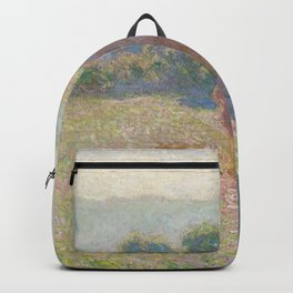 Haystacks, Midday by Claude Monet Backpack