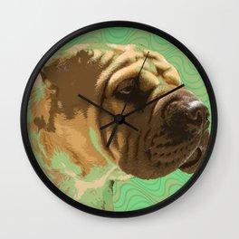 Shar Pei Waves Wall Clock