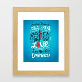 The Shape of You Framed Art Print