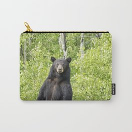 Male Black Bear Looking To Cross the Road, Grand Tetons Carry-All Pouch
