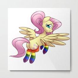Flutter Gay Pride Metal Print