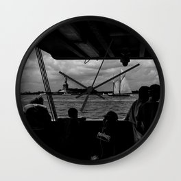 Liberty w/ Sailboat Wall Clock