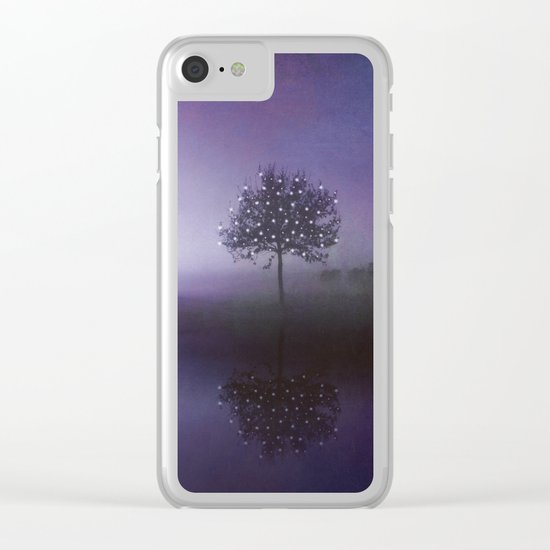 SOLITUDE IN TIME - PURPLE Clear iPhone Case