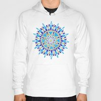 royal Hoodies featuring Royal Blue Mandala by Cat Coquillette