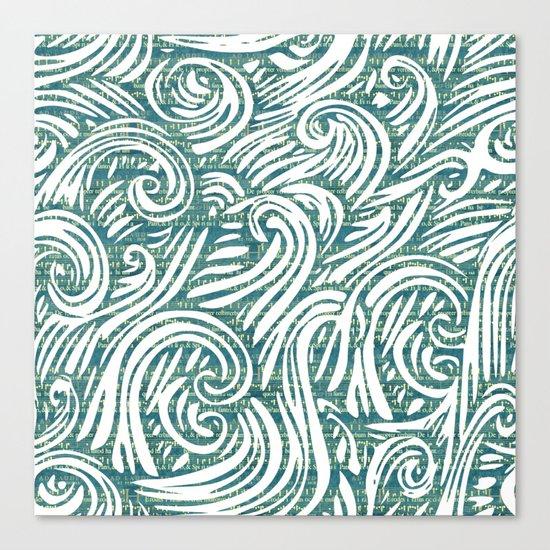Music waves zen art print Canvas Print