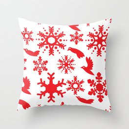 Snowbird Pattern Throw Pillow