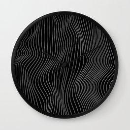 Black Waves 2 Wall Clock