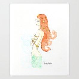 Mermaid Dreaming Art Print