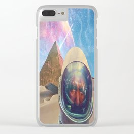 Astronauts in the Desert Clear iPhone Case