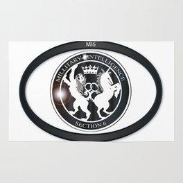 MI6 Oval Badge (Millitary Intelligence Section 6) Rug