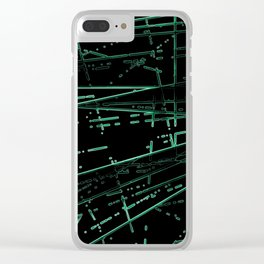 Neon Disco #8 Clear iPhone Case