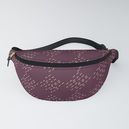 Burgundy checkered pattern Fanny Pack