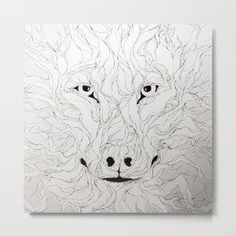 Wolfs wood Metal Print