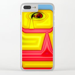 The wary eye ... Clear iPhone Case