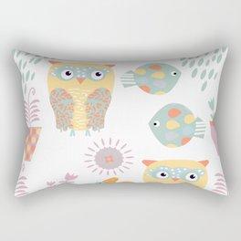 Owls 3b Rectangular Pillow