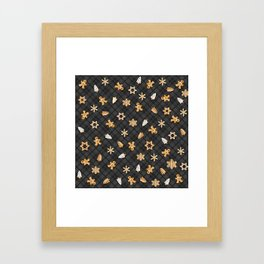 Gingerbread Dark Framed Art Print
