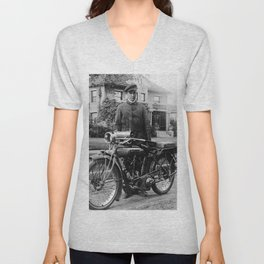 Grandpa's Cyclone Motorcycle Unisex V-Neck