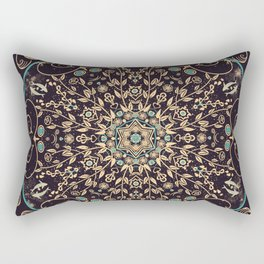 Deep Purple Sky Mandala Rectangular Pillow