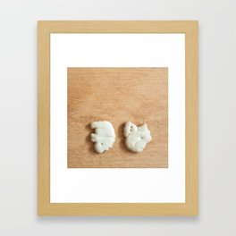 Animal Crackers - wood2 Framed Art Print