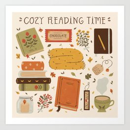 Cozy Reading Time Art Print