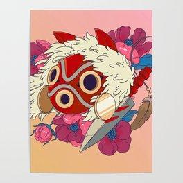 Mononoke Mask Poster
