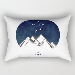 Astrology Libra Zodiac Horoscope Constellation Star Sign Watercolor Poster Wall Art Rectangular Pillow