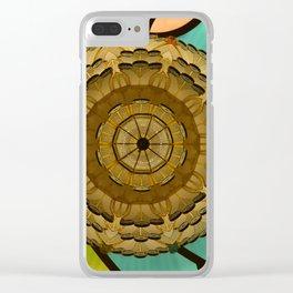 Kaleidoscope dream green Clear iPhone Case