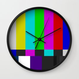 NTSC Color Bars Wall Clock