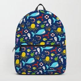 Sea Animals - Cute Pattern Backpack