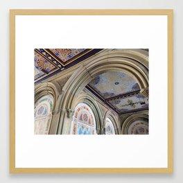 Bethesda Terrace Decorative Ceiling Tiles Framed Art Print