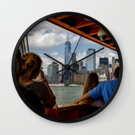 NYC from The Ferry Wall Clock