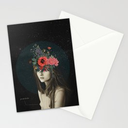 mujer florero Stationery Cards
