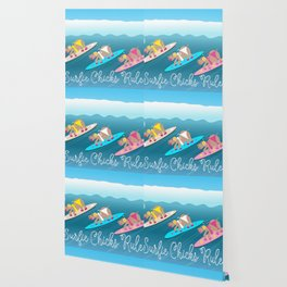 Surfie Chicks Rule Wallpaper
