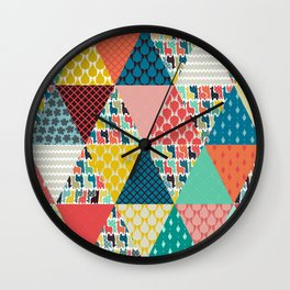 llama geo triangles Wall Clock