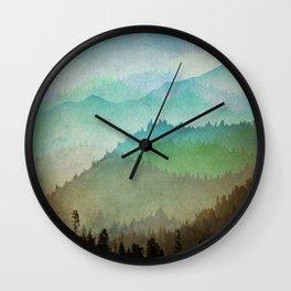 Watercolor Hills Wall Clock