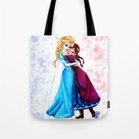 sisters Tote Bags featuring Sisters by Siney