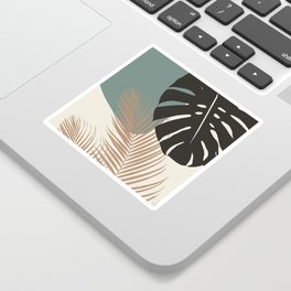 Minimal Monstera Palm Finesse #1 #tropical #decor #art #society6 Sticker