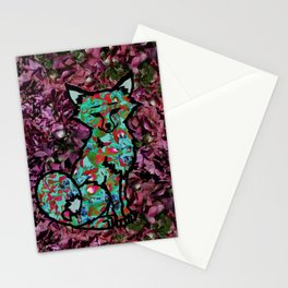 Hydrangea Fox Stationery Cards