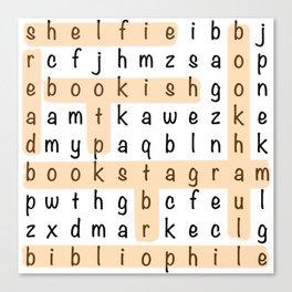 Bookstagram Word Search - Orange Canvas Print