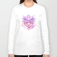 baphomet Long Sleeve T-shirts featuring Baphomet (WHITE) by Gunkiss