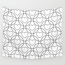 Decor with circles and hearts Wall Tapestry