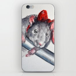 Rat in a bow iPhone Skin