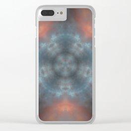 Sunset clouds mandala star Clear iPhone Case