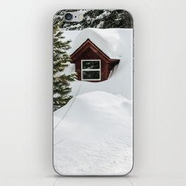 Cabin in the Snow. iPhone Skin