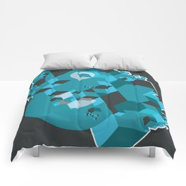 Ampersand Lost in Cubes Comforters