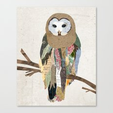 Owl Collage Canvas Print