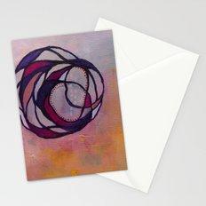 Pink Spiral Stationery Cards