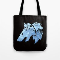 warhammer Tote Bags featuring Wolves on the horizon by HenkusFilijokus