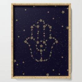 Hamsa Constellation Serving Tray