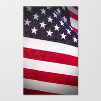 america Canvas Prints featuring America by Mary Timman